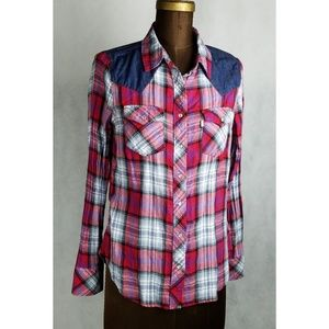 Levi's flannel button down chambray size med